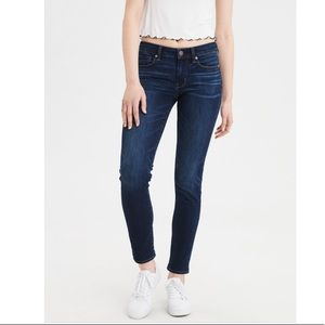American Eagle Mid-Rise Skinny Jeans Dark Wash